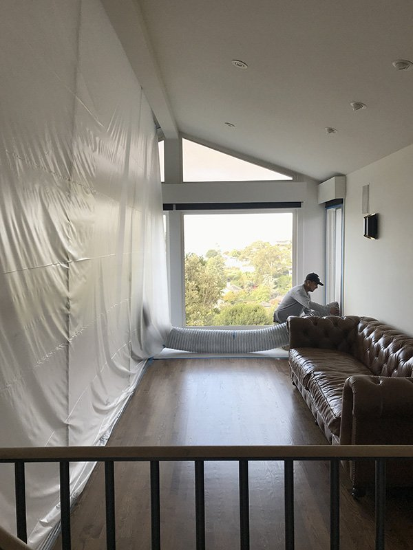 Isolating the demolition area from other areas of a home
