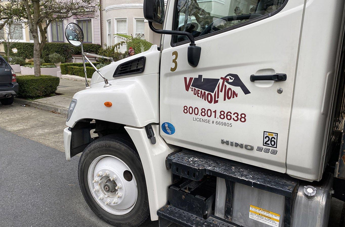 V's Demo vehicle signage