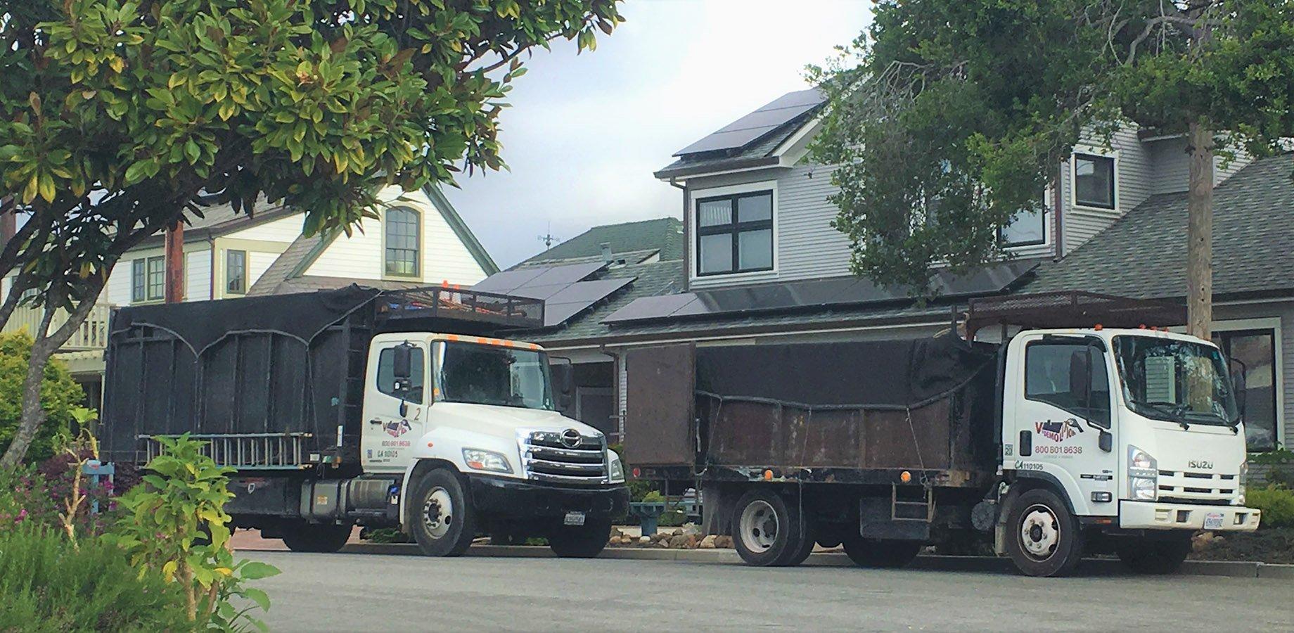 2 trucks from our fleet