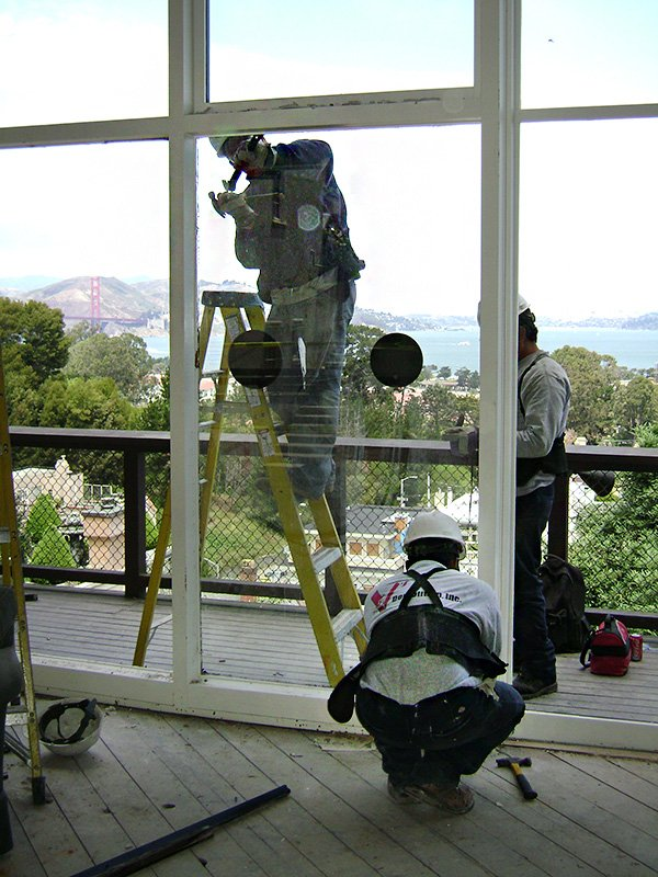 Large window removal in this San Francisco home